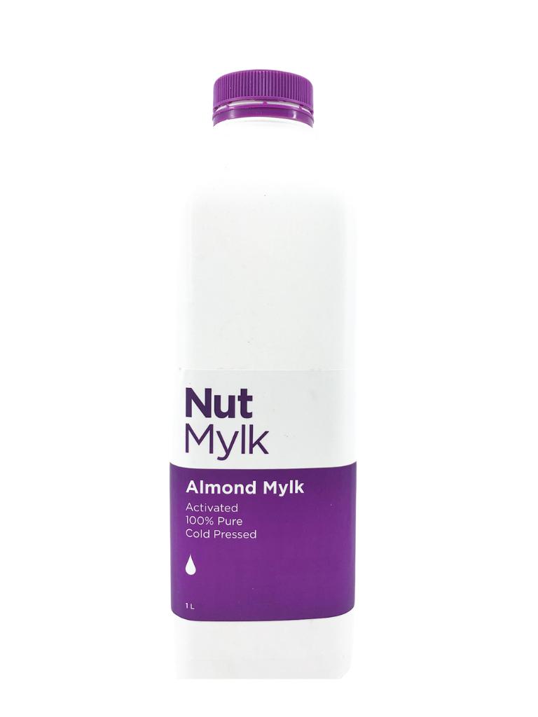 Bottle of Almond Mylk by Nutmylk