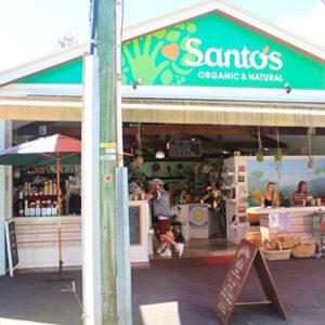 Shopfront of Santos Organics, Byron Bay